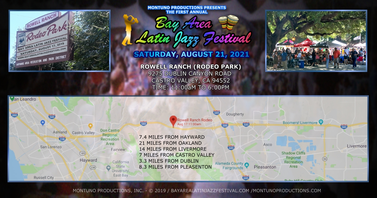 Bay Area Latin Jazz Festival Promo Rowell Ranch 1200 5